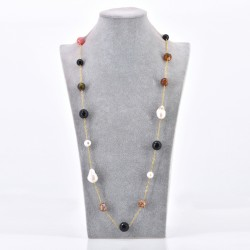 BAROQUE GOLD FILLED  CHAIN NECKLACE