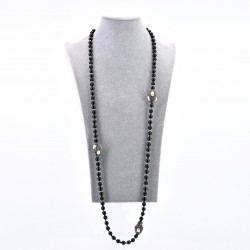 ONYX AND NUGGET NECKLACE