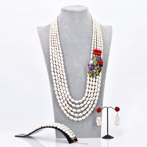 AJOKE NECKLACE SET (CREAM)2