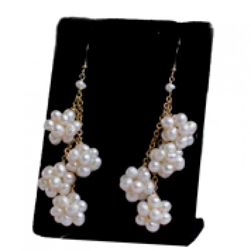 Cream Pearl Trio With Gold Field Earring