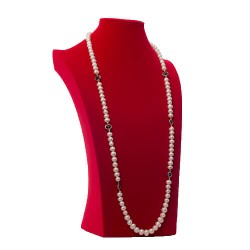 Cream Pearl Necklace with Nugget detail