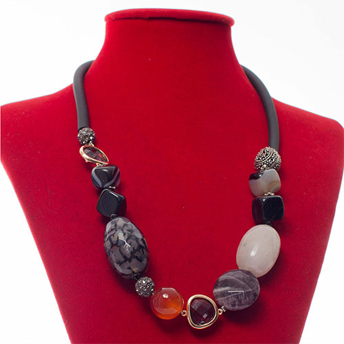 Mixed Gemstone Ethnic-Style Necklace