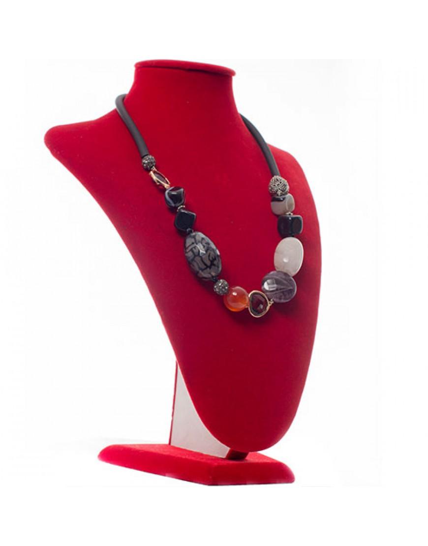 Mixed Gemstone Ethnic-Style Necklace