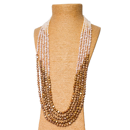 Ombre Pearl Necklace Set
